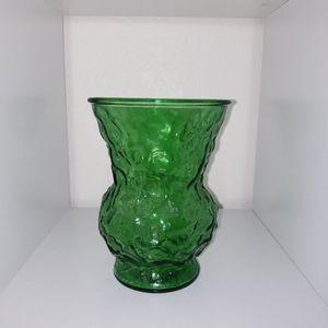 Vintage E O Brody Co. Textured Green vase